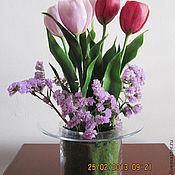Цветы и флористика ручной работы. Ярмарка Мастеров - ручная работа Так хочется тюльпанов в феврале..ведь в них живут малютки феи..... Handmade.