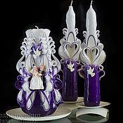 Свадебный салон ручной работы. Ярмарка Мастеров - ручная работа Резные свадебные свечи.Свадебные резные свечи.Резные свечи. Handmade.