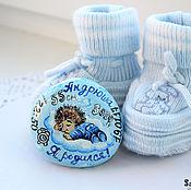 """Подарки к праздникам ручной работы. Ярмарка Мастеров - ручная работа """"Метрика с ёжиком"""" камешек. Handmade."""