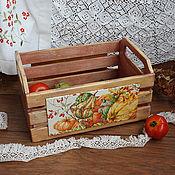 """Для дома и интерьера ручной работы. Ярмарка Мастеров - ручная работа Большой ящик под овощи """"Тыквы"""". Handmade."""
