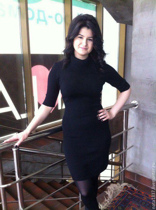 Платья ручной работы. Ярмарка Мастеров - ручная работа. Купить Платье черное стрейч. Handmade. Черный, маленькое черное платье