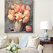 Дизайн и реклама handmade. Livemaster - original item Painting with peonies in the interior. Handmade.