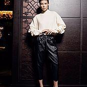 Одежда handmade. Livemaster - original item Women`s leatherette trousers. Handmade.