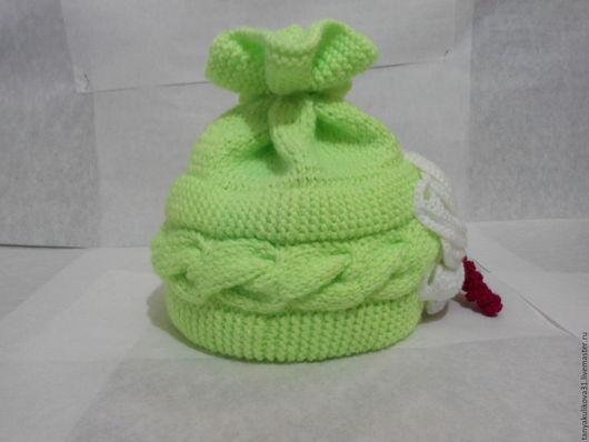 Шапки ручной работы. Ярмарка Мастеров - ручная работа. Купить шапочка. Handmade. Салатовый, красиво, 70% акрил