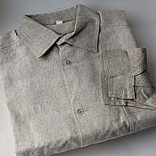 Одежда handmade. Livemaster - original item Long sleeve linen shirt.. Handmade.