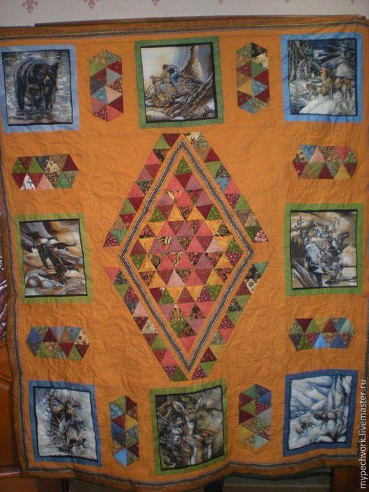 """Текстиль, ковры ручной работы. Ярмарка Мастеров - ручная работа. Купить Лоскутное одеяло """"Сны охотника"""". Handmade. Одеяло пэчворк"""