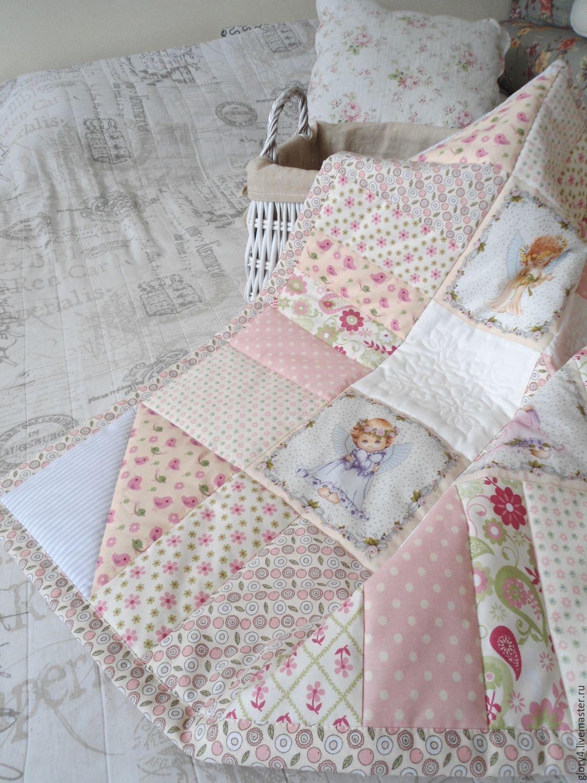 Одеяло для новорожденного пэчворк