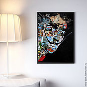 "Картина ""Сальвадор Дали"". Коллаж. Сюрреализм"