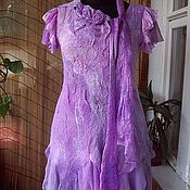Одежда ручной работы. Ярмарка Мастеров - ручная работа Валяное платье Сиреневые грезы. Handmade.