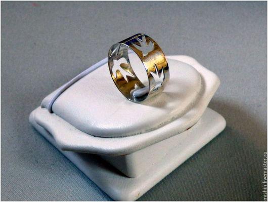 """Кольца ручной работы. Ярмарка Мастеров - ручная работа. Купить Кольцо """"Ласточка"""". Handmade. Белый, кольцо из серебра, ласточки"""