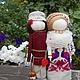 """Народные куклы ручной работы. Ярмарка Мастеров - ручная работа. Купить """"Неразлучники"""" Кукла обрядовая свадебная.. Handmade. Белый, оберег"""
