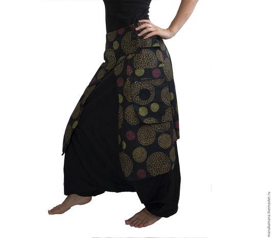 Этническая одежда ручной работы. Ярмарка Мастеров - ручная работа. Купить Черные Штаны афгани c юбкой. Handmade. Черный