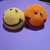Куклы и игрушки ручной работы. Ярмарка Мастеров - ручная работа смайлик вязаный). Handmade.
