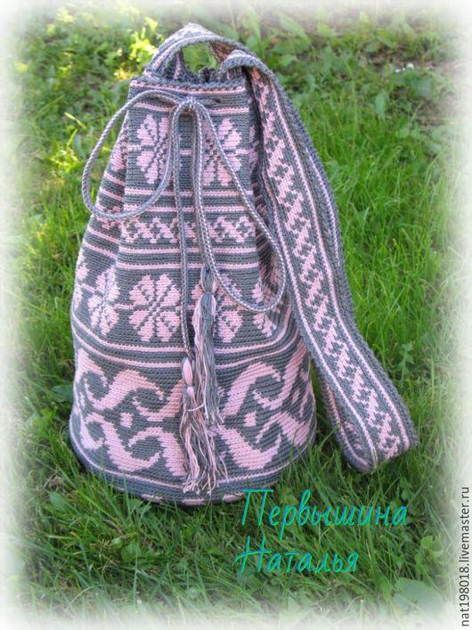 Женские сумки ручной работы. Ярмарка Мастеров - ручная работа. Купить Колумбийская мочила. Handmade. Розовый, сумка ручной работы