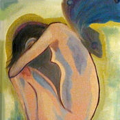 Картины и панно ручной работы. Ярмарка Мастеров - ручная работа Девочка-Мотылек. Handmade.