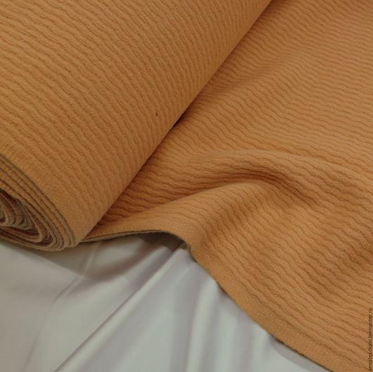 Ткань пальтовая - цвет персиковый