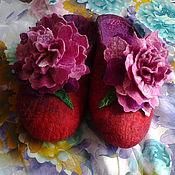 Обувь ручной работы handmade. Livemaster - original item Slippers peonies. Handmade.