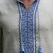 Одежда ручной работы. Ярмарка Мастеров - ручная работа Мужская рубашка вышита крестом. Handmade.