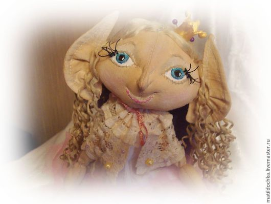 Ароматизированные куклы ручной работы. Ярмарка Мастеров - ручная работа. Купить Кукла текстильная Эльфийская принцесса. Handmade. Бледно-розовый