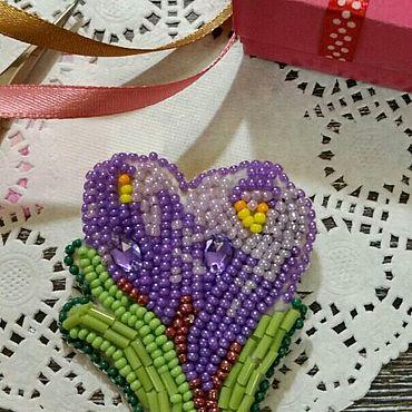 Украшения ручной работы. Ярмарка Мастеров - ручная работа Крокусы, Весенние цветы. Handmade.
