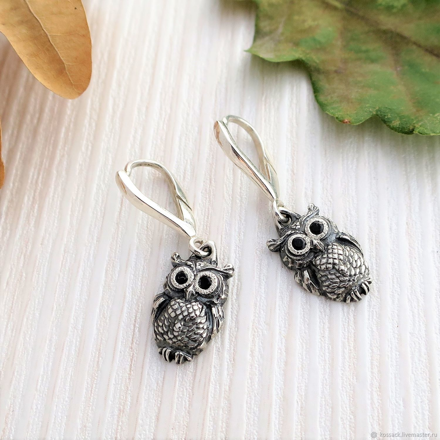 Owls earrings for woman amulet guard, Earrings, Zaporozhye,  Фото №1
