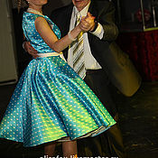 """Одежда ручной работы. Ярмарка Мастеров - ручная работа Платье """"Стиляги"""" - в стиле 50 х  ..в горошек). Handmade."""