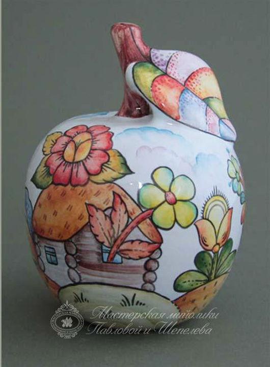 Статуэтки ручной работы. Ярмарка Мастеров - ручная работа. Купить Яблоко керамическое. Handmade. Комбинированный, яблоко, керамика ручной работы