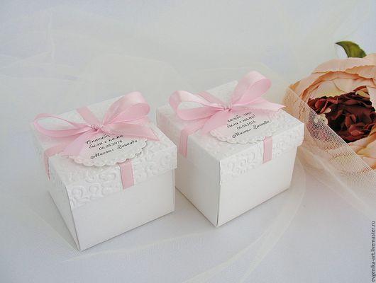 """Свадебные аксессуары ручной работы. Ярмарка Мастеров - ручная работа. Купить Бонбоньерки """"Зефир"""". Handmade. Белый, коробочка для конфет, коробочка"""