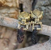 Украшения handmade. Livemaster - original item Bracelets pair of skin - Bear. Handmade.