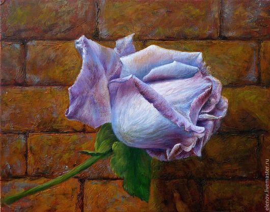 """картина , написанная масляными красками """"Роза"""""""