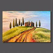 Картины ручной работы. Ярмарка Мастеров - ручная работа Картины: «Тоскана, Италия» масло на холсте, 60х40. Handmade.
