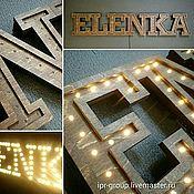 Интерьерные светящиеся буквы и слова