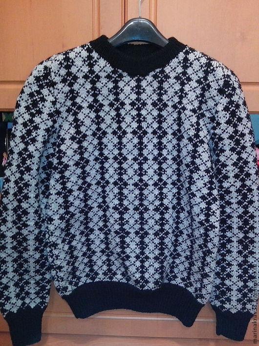 """Для мужчин, ручной работы. Ярмарка Мастеров - ручная работа. Купить Мужской свитер """"Цветные ромбы"""". Handmade. Серый, свитер"""