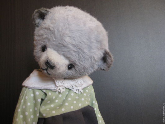 Мишки Тедди ручной работы. Ярмарка Мастеров - ручная работа. Купить Мишуля Анюта. Handmade. Серый, мишка в одежде