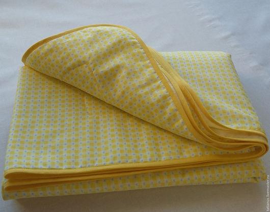 Пледы и одеяла ручной работы. Ярмарка Мастеров - ручная работа. Купить Детское одеяло желтое. Handmade. Желтый, одеяло для мальчика