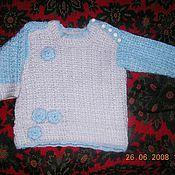 Кофты ручной работы. Ярмарка Мастеров - ручная работа детский свитерок с розочками.. Handmade.