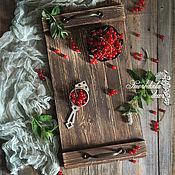 Для дома и интерьера ручной работы. Ярмарка Мастеров - ручная работа Поднос деревянный Vintage Luxury. Handmade.
