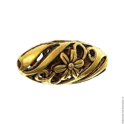 Для украшений ручной работы. Ярмарка Мастеров - ручная работа. Купить Разделитель для бусин, филигрань, цвет золото. Handmade. Золотой