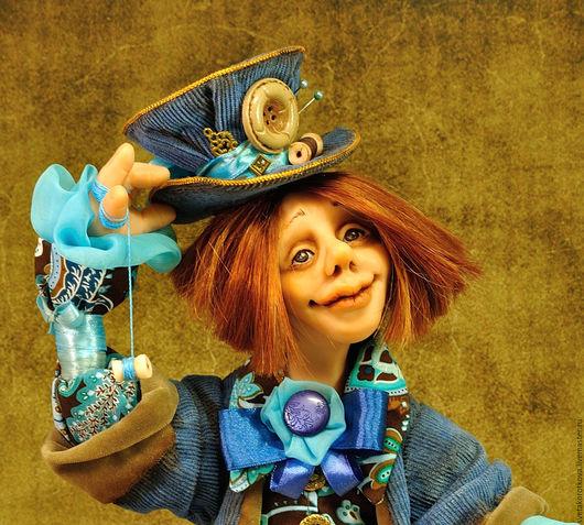 Коллекционные куклы ручной работы. Ярмарка Мастеров - ручная работа. Купить Шляпник. Handmade. Шляпник, безумный шляпник, шифон