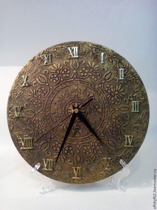 """Часы для дома ручной работы. Ярмарка Мастеров - ручная работа. Купить часы настенные """"Орнамент"""". Handmade. Коричневый, часы"""
