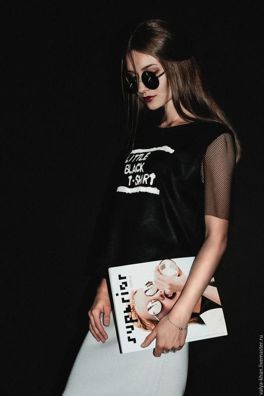 Кофты и свитера ручной работы. Ярмарка Мастеров - ручная работа. Купить Топ Little Black T-shirt. Handmade. топ