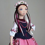 Куклы и игрушки ручной работы. Ярмарка Мастеров - ручная работа Оксана, подвижная текстильная кукла. Handmade.