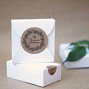 Этикетки ручной работы. Ярмарка Мастеров - ручная работа Крафт наклейка для упаковки. Handmade.