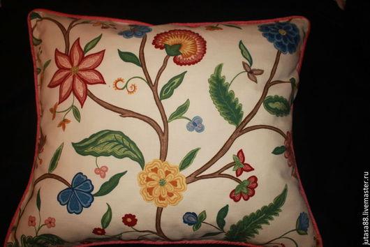 Текстиль, ковры ручной работы. Ярмарка Мастеров - ручная работа. Купить Декоративный чехол на подушку. Handmade. Комбинированный, хлопковая ткань