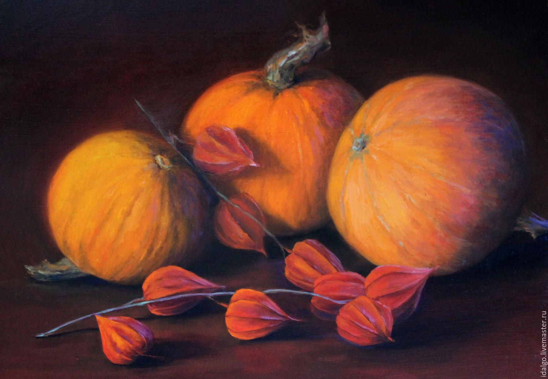 Oil painting 'Red pumpkin', Pictures, Nizhny Novgorod,  Фото №1