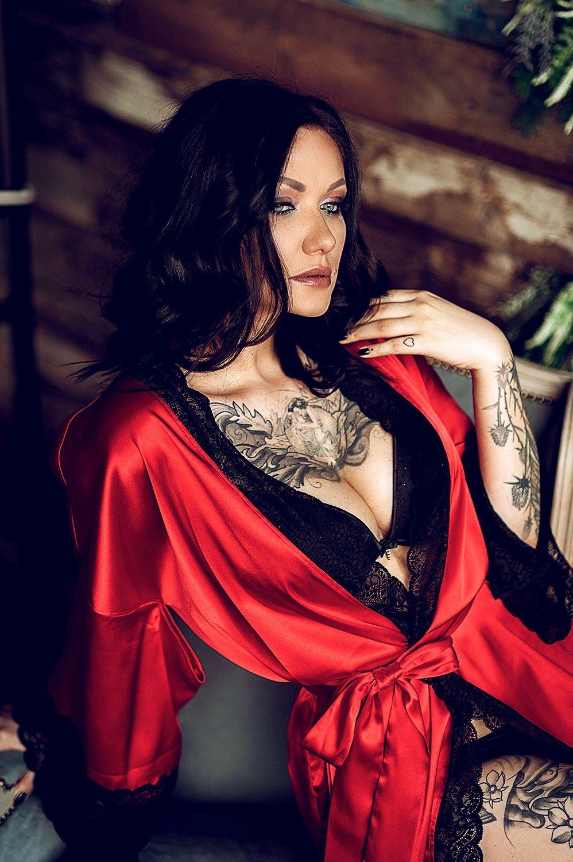 """""""Цвет страсти"""" - красное алое кимоно с черным кружевом, Халаты, Санкт-Петербург,  Фото №1"""
