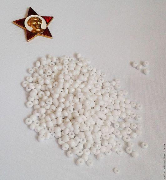 Другие виды рукоделия ручной работы. Ярмарка Мастеров - ручная работа. Купить Бисер Китай № 6. Handmade. Белый