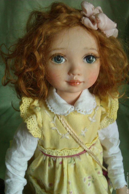 Коллекционные куклы ручной работы. Ярмарка Мастеров - ручная работа. Купить Сонечка. Handmade. Лимонный, натуральная кожа