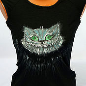 """Одежда ручной работы. Ярмарка Мастеров - ручная работа Футболка """"Чеширский кот"""". Handmade."""