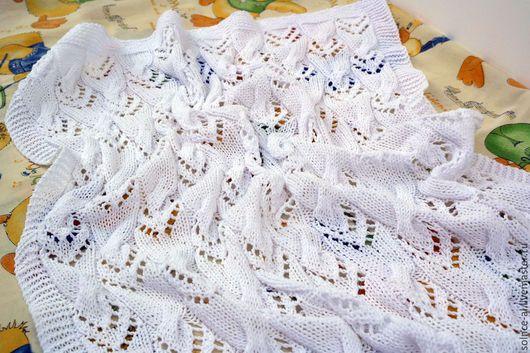 """Пледы и одеяла ручной работы. Ярмарка Мастеров - ручная работа. Купить Плед детский """"Белоснежный"""". Handmade. Белый, плед на выписку"""